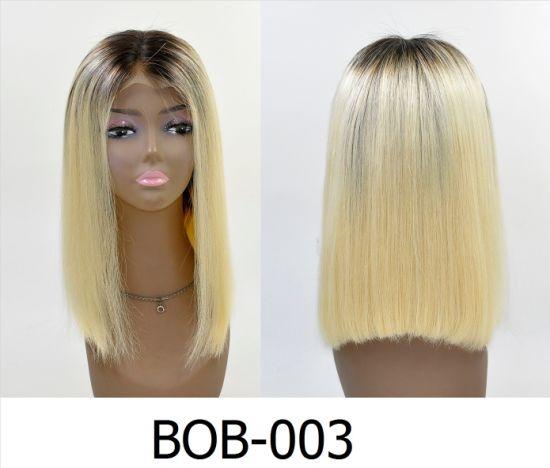 Color Short Virgin Human Hair Bob Wigs for Women
