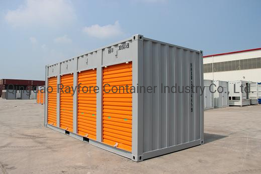Qingdao Factory Customized Shipped to Europ and Japan 20FT 4 Shutter Roller Doors Storage Container