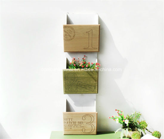 OEM Wholesale 3 Layer Wooden Magazine Book Rack