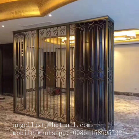China Factory Laser Cut Metal Screens Dividers Stainless Steel Room