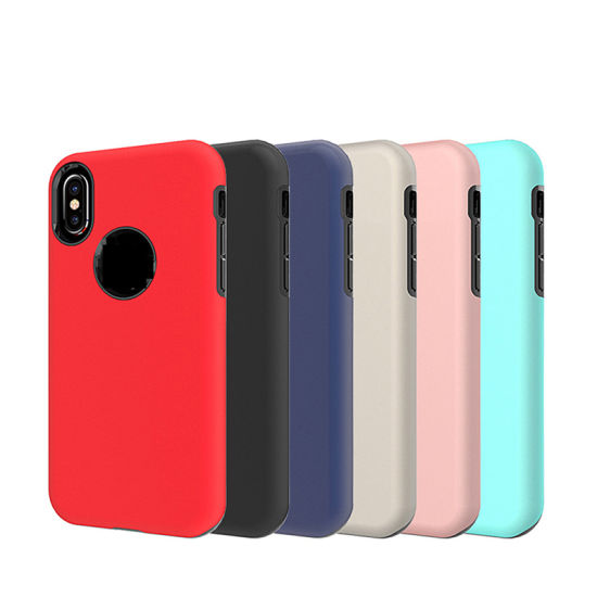 Shockproof Phone Leather TPU Back Cover Case for iPhone X pictures & photos