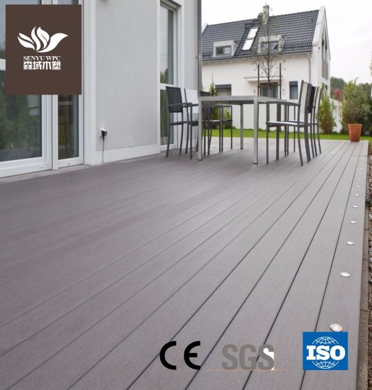 UV-Resistant Outdoor WPC Material Plastic Wood Composite Decking Board