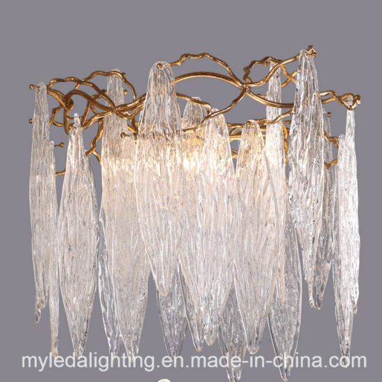 China French Copper Branches Retro Crystal Luxury LED Chandelier ...