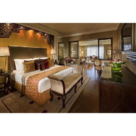 China Bed Design Wooden Vintage Hotel Bedroom Furniture Set SD1007 ...