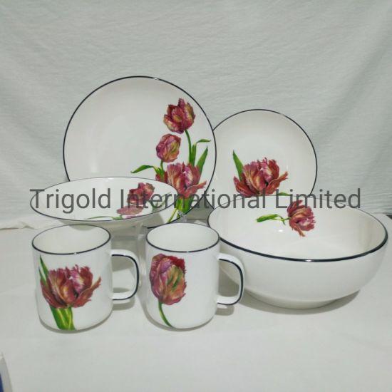 Popular Decal Porcelain Dinnerware Porcelain Dinner Set