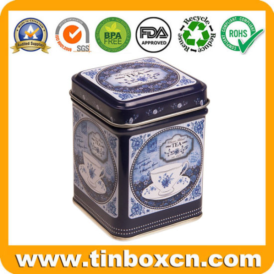 Square Metal Tin Box Tea Packaging for Food Tea Caddy pictures & photos