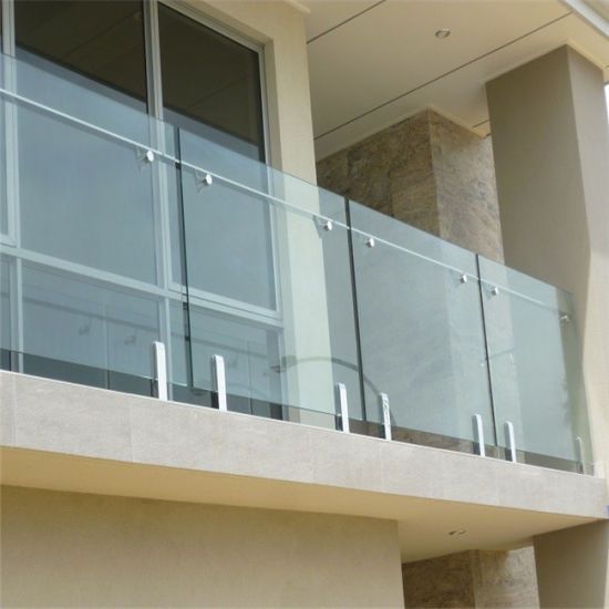 Stainless Steel Handrail with Tempered Glass Railing