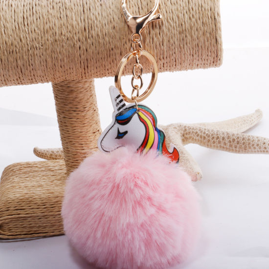 Fake Rabbit POM POM Fur Balls Keychains pictures & photos