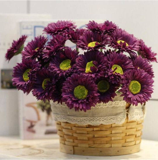 China wedding table centerpieces wedding decor daisy artificial wedding table centerpieces wedding decor daisy artificial flowers silk purple chrysanthemum stem junglespirit Image collections