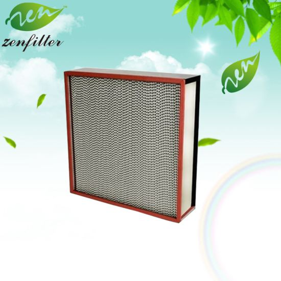 Large Air Flow Ht Temperature Deep Pleated HEPA Filter