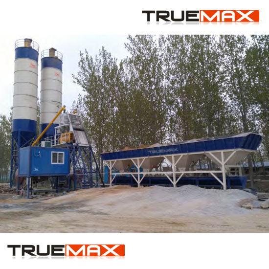 25cbm/30cbm Stationary Skip Hoist Type Wet Ready Mixed Concrete Batching Plant pictures & photos
