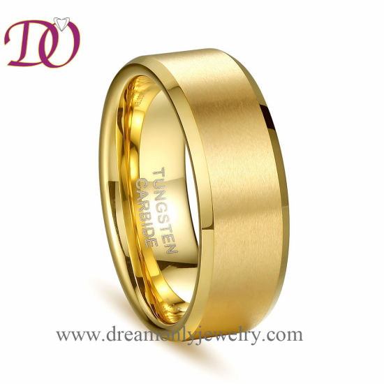 Factory Cheap Gold Color Tungsten Ring Tungsten Jewelry