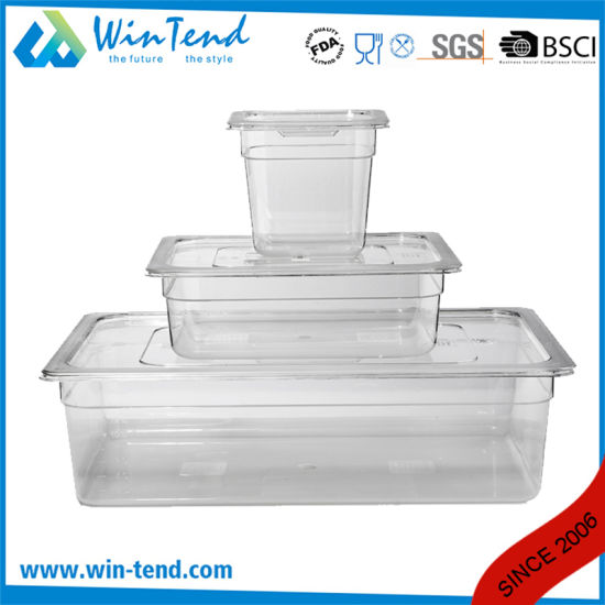 Hot Sale BPA Free Certificate Transparent Plastic Restaurant Kitchen 1/1 Size Gastronorm Container pictures & photos