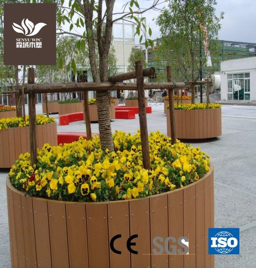 Outdoor WPC Flower Pot for Garden Planter