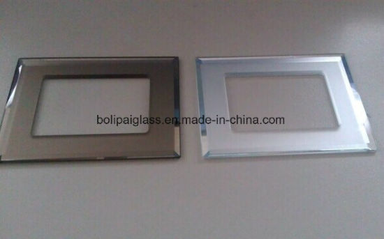 Bevelled Edges Mirror Glass Switch Plates in 3mm Thick