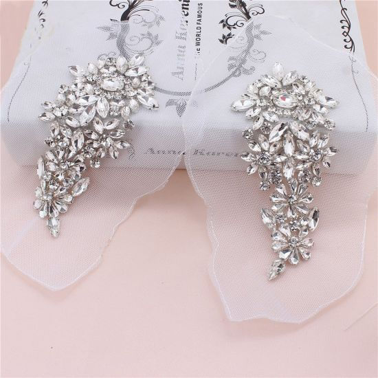 56cfa043a5 China Wholesale Sew on Rhinestone Applique Patches Bling Bling ...