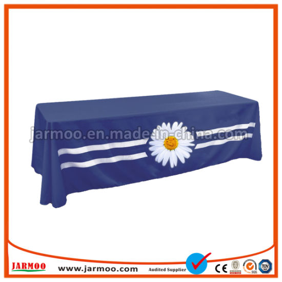 Promotional Tradeshow and Exhibition Fitted Stretch Table Cover Custom Table Cloth pictures & photos