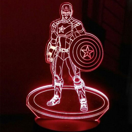 Captain America Children S Bedside Decorative Gift Led Night Lights With Super Herol