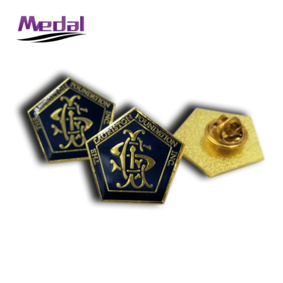 China Brass Stamped with Epoxy Coated Metal Lapel Pin