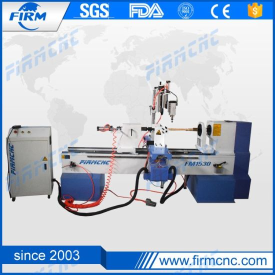 Compatible with Various CAD/Cam Softwares Wood Turning Lathe Machine Wood Working