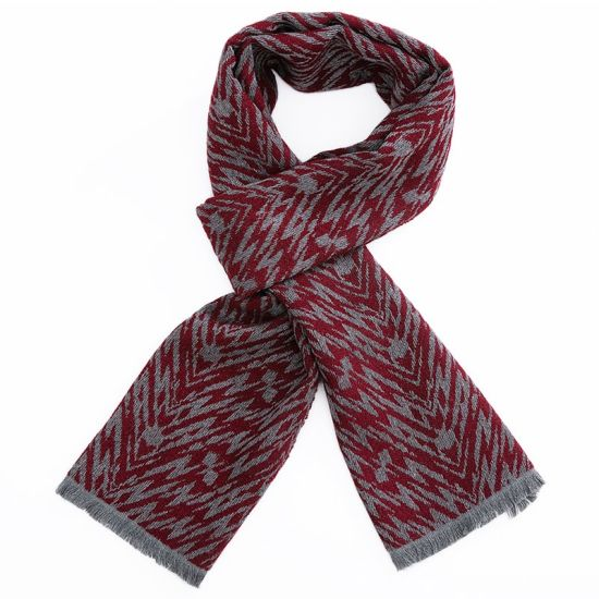 Custom Fashion Knitted Classic Polyester Woven Acrylic Men Women Scarf pictures & photos