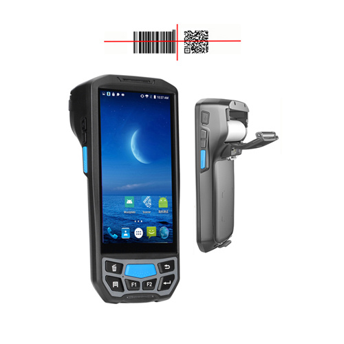 All in One Rugged Android Handheld PDA Barcode Scanner with Printer