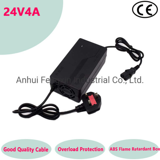 China Manufacturer High Quality 24V4A Wheelchair/Electric Trolley Adapter Battery Charger Used for Battery