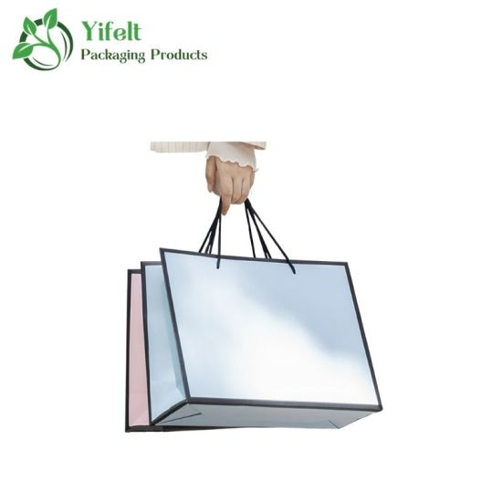 Manufacturer Custom Color Luxury Printed Gift Shopping Paper Bag
