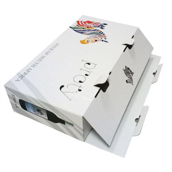 Custom Printed Color Luxury Wine Packaging Gift Paper Box