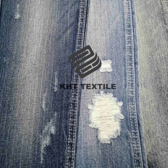 "Kht 10.5 Oz 60% Cotton 40% Polyester Ring Denim Width 56"" Denim Woven Fabric Jeans pictures & photos"