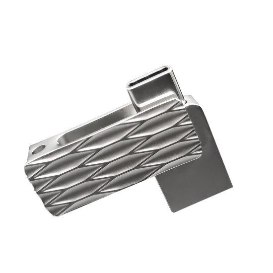 Metal OTG Type C USB Flash Drive Swivel OTG Pen Drive Type C 8GB 16GB 32GB 64GB (UL-OTG041)