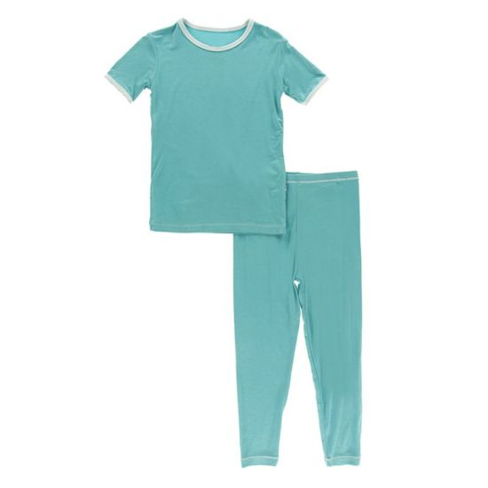 Basic Short Sleeve Pajama Set 2PCS Sleepwear Children's Apparel