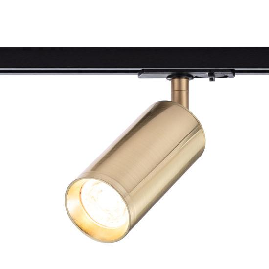 RoHS Home Decorative Spotlight High Quality GU10 Track Lighting Fixture Luxury Copper LED Track Light