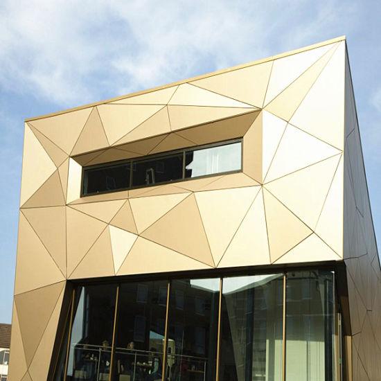 Fireproof Wallpaper Aluminum Building Materials Brushed Aluminium Composite Panel