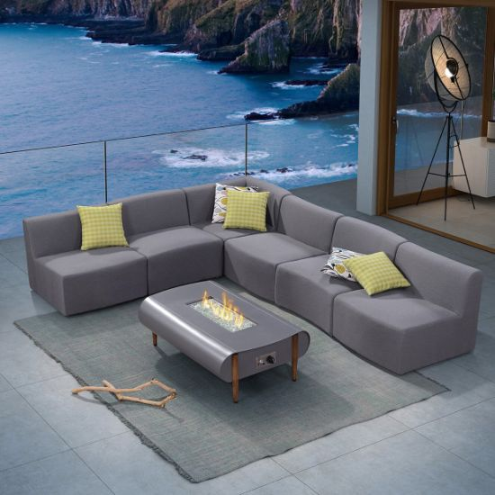 Outdoor Modular Sofa With Fire Pit