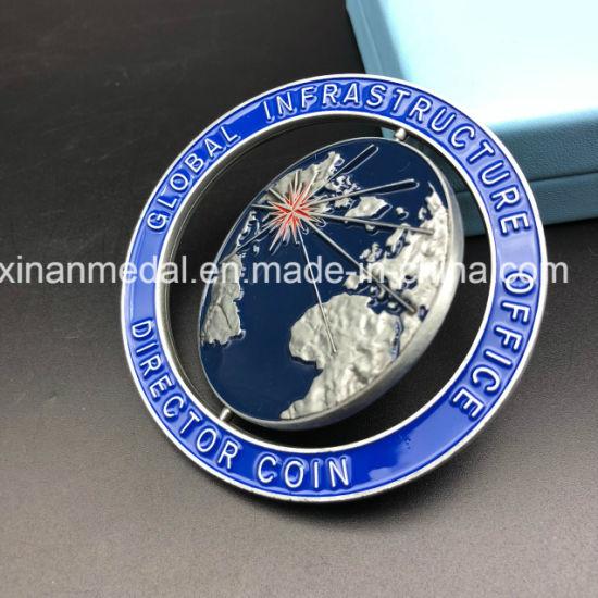 Xinan High-End Wholesale Price Metal Souvenir Enamel Gold Challenge Coin