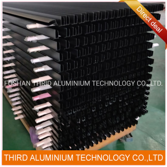 Aluminium Extrusion Profiles in Black Anodized