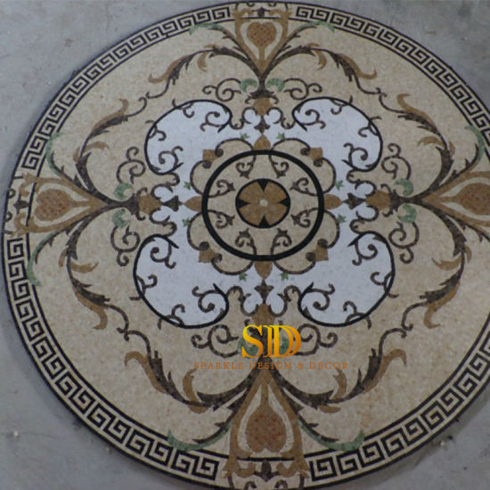 Round Marbles Mosaic Medallion Patterns