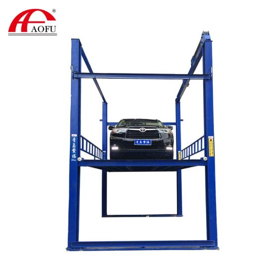 4 Post Hydraulic Car Parking Lift Equipment Car Lifters in Workshop