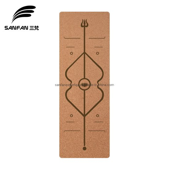 Customized Logo Cork and Natural Rubber Yoga Mat