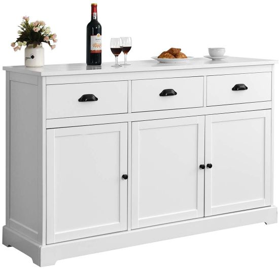 White Buffet Server Storage Sideboard