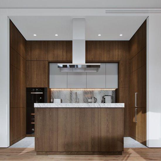 China High Quality Wood Grain Pvc Kitchen Cabinets On Sale China Furniture Kitchen Cabinets
