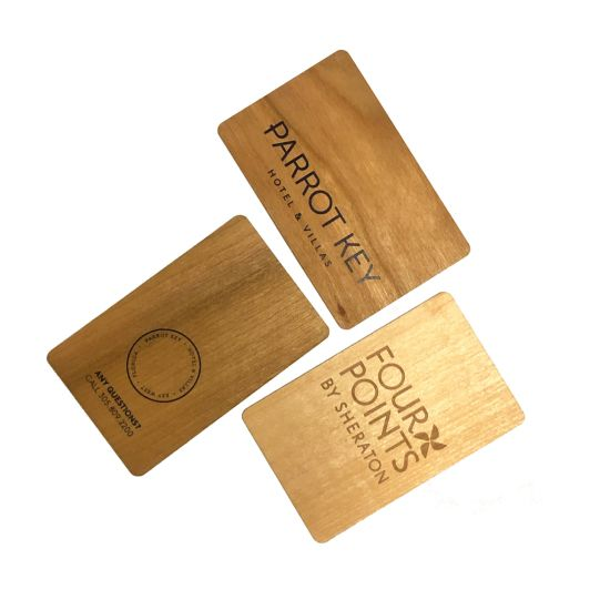Wooden Card Custom Laser Carved Bamboo Business Card Silk Printed Wooden Business Card