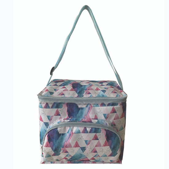 Customized Full Printing Insulated Food Lunch Bag with Shoulder Strape