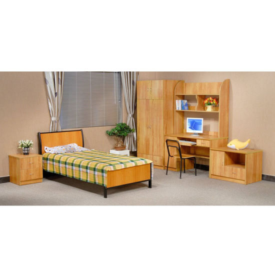 China Dormitory Wooden Bunk Bed With Desk And Wardrobe From Factory China Dormitory Home Furniture