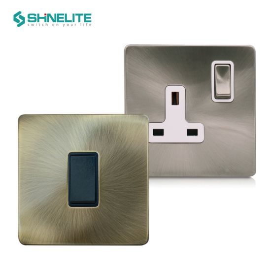 Home Decoration British Standard Light Switch Electrical Wall Switch