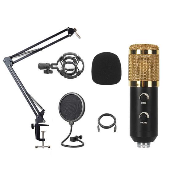 Foldable Sund Adjust High Sensitivity Bulit-in Chip Wild Compatible USB Microphones Condenser Microphone for Studio Sound Recording Game Singing Living Stream