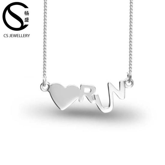 Fashion Jewelry 925 Silver Sterling Love Heart Pendant Necklace pictures & photos