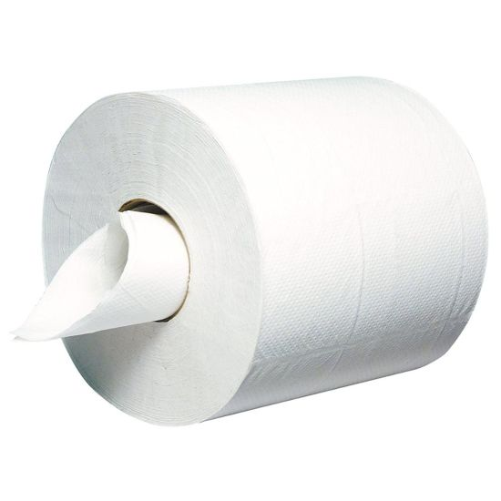 2 Ply Embossed Centre Feed 6 Rolls Multi Purpose Hand Towel White Centrefeed Paper Rolls