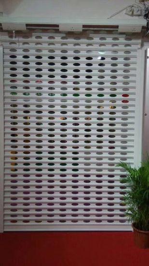 China See Through Aluminum Roll Up Door China Punched Aluminum